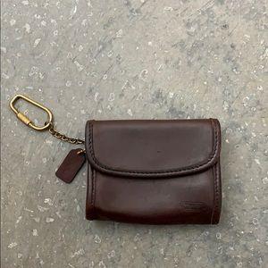 Vintage Coach keychain wallet